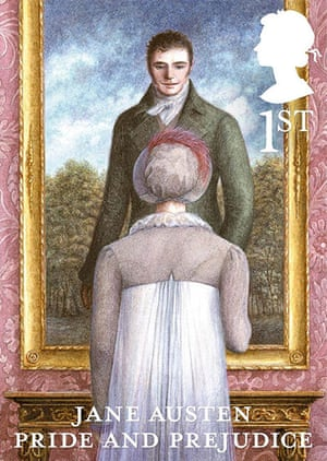 Jane Austen stamps: Jane Austen Pride and Prejudice 1st class stamp