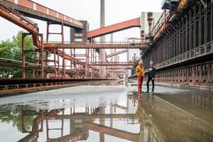 Architect's inspiration: David West and Christophe Egret at Zollverein coalmine, Essen