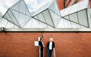 Architects' inspiration: Jon Buck and Dominic Cullinan at Leicester University