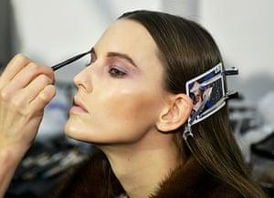 Milan Fashion Week 1:  Mila Schon backstage Milan Fashion Week
