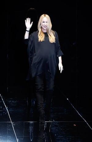 Milan Fashion Week 1: Italian designer Giannini acknowledges the applause Milan Fashion Week
