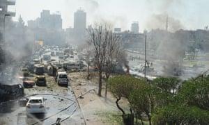 Damascus car bomb near Ba'ath party HQ Syria