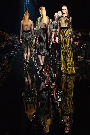 Milan Fashion Week 1: Models display creations as part of Gucc