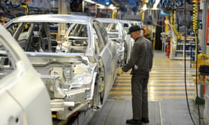 The Vauxhall Astra production line in Ellesmere Port, Cheshire.