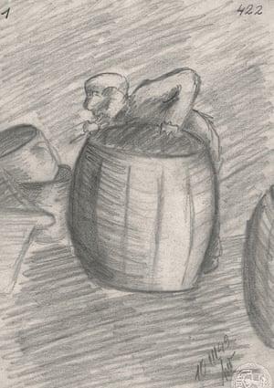 Helga Weiss barrel