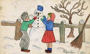 Helga Weiss snowman