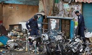 Hyderabad bomb site