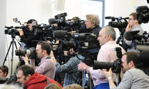 The press gather for the King Richard III announcement