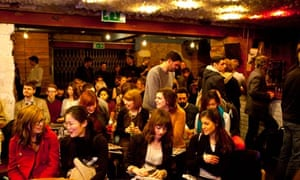 people networking at the Bookclub in Hoxton