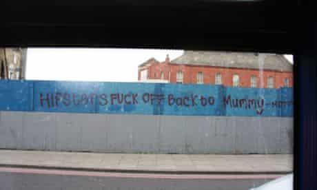 Hipsters graffiti Dalston London