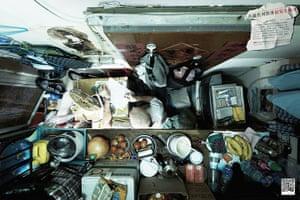 hong kong flats: A Hong Kong resident writes in his flat.