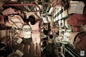 hong kong flats: A family in their Hong Kong flat.