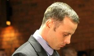 Oscar Pistorius in court on 22 February 2013.