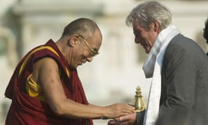 Richard Gere meets the Dalai Lama in 2007.