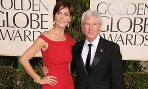 Richard Gere with wife Carey Lowell at this year's Golden Globes.