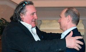 Gérard Depardieu with Vladimir Putin