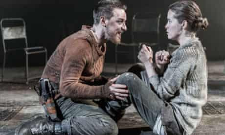 James McAvoy and Claire Foy in Macbeth at Trafalgar Studios in London