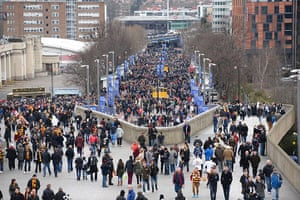 Capital One Final: Bantam and Swans fans up Wembley Way