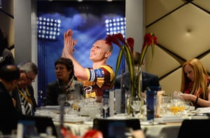 Capital One Final: An picture of Bradford's Gary Jones, hangs in a dining area