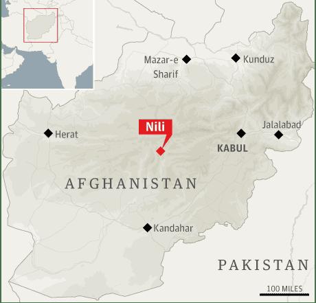 Map: Afghanistan, Nili