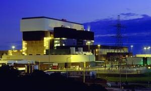Heysham nuclear power station by night