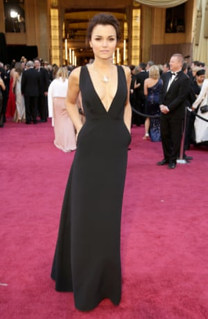 Samantha Barks arrives at the Oscars