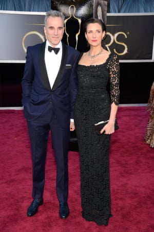Actor Daniel Day-Lewis (L) and writer/director Rebecca Miller
