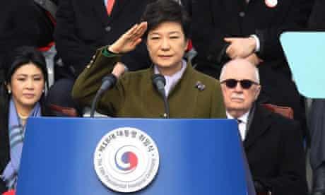 Park Geun-hye at her inauguration as South Korean president