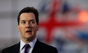 """Chancellor George Osborne who insisted Britain would not """"run away"""" from its problems after Moody's downgraded the country's AAA credit rating."""