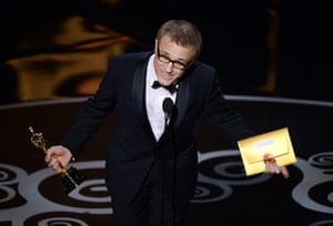 Oscar Ceremony 2013: First up ... Christoph Waltz!