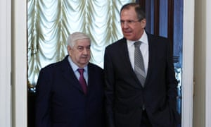 Russia's Foreign Minister Sergei Lavrov  and his Syrian counterpart Walid al-Moualem met in Moscow on Monday. Moualem said Damascus was ready to talk to the country's armed opposition.