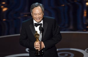 Oscar Ceremony 2013: Ang Lee with his Oscar for directing Life of Pi