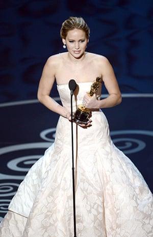 Oscar Ceremony 2013: Jennifer Lawrence wins best actress