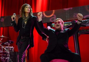 Oscars after party: Steven Tyler and Sir Elton John on stage