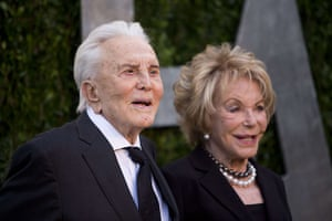 Oscars after party: Kirk Douglas and his wife, Ann, arrive at the Vanity Fair Oscar Party