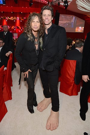 Oscars after party: Steven Tyler and Jim Carrey
