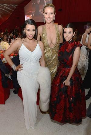 Oscars after party: Kim Kardashian, Heidi Klum and Kourtney Kardashian