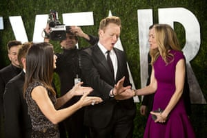 Oscars after party: Conan O'Brien and his wife Liza Powel arrive at the Vanity Fair Oscar party
