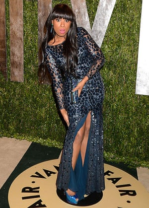 Oscars after party: Jennifer Hudson arrives at the Vanity Fair party