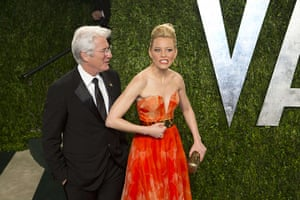 Oscars after party: Richard Gere and Elizabeth Banks arrive at the Vanity Fair Oscar party