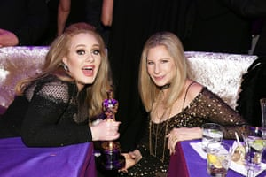 Oscars after party: Adele and Barbra Streisand at the Governors Ball