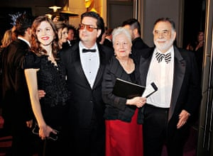 Oscars after party: Jennifer Furches, Roman Coppola, Eleanor Coppola and Francis Ford Coppola