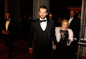 Oscars after party: Bradley Cooper arrives with his mother Gloria Cooper at the Governors Ball