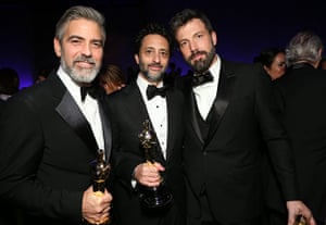 Oscars after party: George Clooney, Grant Heslov and Ben Affleck at the Governors Ball