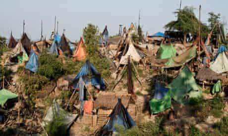 burma oil rush tents