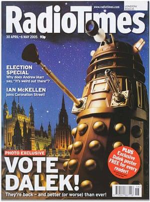 PPA covers: Radio Times - April 2005, Vote Dalek!