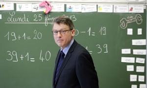 French education minister Vincent Peillon