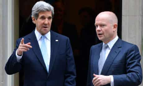 Secretary of State John Kerry Foreign Secretary William Hague