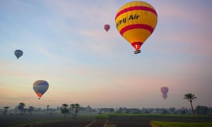 Balloon flights over the Valley of the Artisans and the Valley of the Kings in Egypt