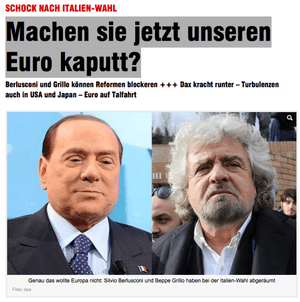 Bild front page, February 26 2013
